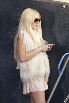 Lindsay Lohan on the set in Los Angeles, CA