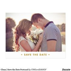 Clean | Save the Date Postcard