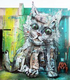 Arte consciente: artista transforma lixo em esculturas para alertar sobre a  poluição.