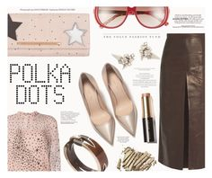 """""""Polka Dots"""" by katarina-blagojevic ❤ liked on Polyvore featuring Brian Atwood, Rachel Comey, RED Valentino, Kensie, Alexis Bittar, Gucci and Bobbi Brown Cosmetics"""