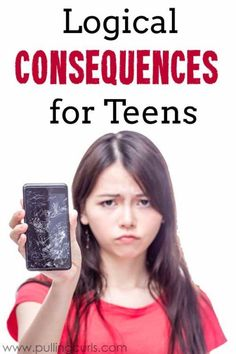Consequences for Teens: A list of logical consequences for their actions Teens have a lot of tough chocies, but sometimes having a clear picture of how the hammer will drop will help them make better choices. Logical consequences for teens are awesome, at Raising Teenagers, Parenting Teenagers, Parenting Classes, Kids And Parenting, Parenting Hacks, Parenting Plan, Parenting Workshop, Foster Parenting, Gentle Parenting