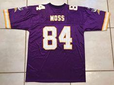 Vintage REEBOK Minnesota Vikings Randy Moss NFL Jersey Men s Large 83e72e1d9