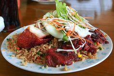 Guyanese Chinese Food: Chicken & Pork Fried Rice