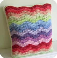 My 'spanish ripple' crochet cushion