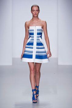 David Koma Spring 14 // bright blue dress