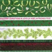 2210 Servilleta decorada Navidad
