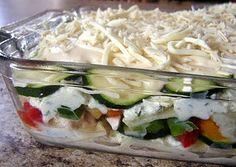 freezer meals including white sauce lasagna, enchiladas, curry chicken and more.