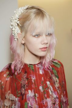 Marjan Jonkman backstage at Gucci A/W 2015 - About A Girl...
