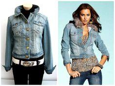 Damen Marken Jeansjacke kurze Jeans Übergangs Jacke Cargo blau Gr.36,38,40,42