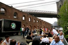Spend a day in Brooklyn Brewery's expansive, seriously-bare-bones garden & tasting room, where you can wash down delivery pizza with perennials (Lager, Weisse Pennant Ale...) and seasonals (Summer Ale, Black Chocolate Stout...) purchased using wooden drink tokens ($20 for five).