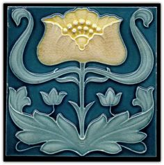 Items similar to - Gloss Ceramic or Glass Tile - Vintage Art Nouveau Reproduction Tile - Various Sizes. Decorative Wall Tiles, Ceramic Wall Tiles, Ceramic Art, Art Tiles, Tile Mosaics, Porcelain Tile, Antique Tiles, Vintage Tile, Vintage Art