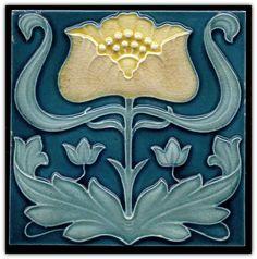 Art Nouveau Tile - J. C. Edwards