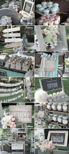www.kamalion.com.mx - Boda / Wedding / Vintage / Rustic / Menta & Rosa / Mint & Pink / Decoración / Decor / Candy Bar by marjorie