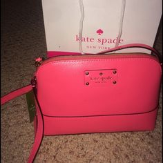 ADORABLE Kate Spade Crossbody New with tags, Kate spade crossbody purse in hot pink. Never used & in perfect condition! Make an offer! (No trades please ) kate spade Bags