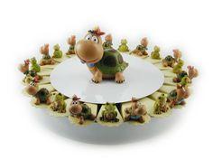 Torta bomboniera 22 fette con tartarughe e ranocchiette