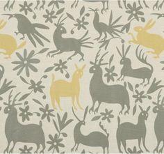 Fabrics - VERACRUZ-CITRINE - Fabric | DwellStudio - modern gray and yellow animal print fabric, modern animal print fabric, modern gray and yellow animal patterned fabric,