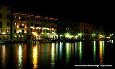 Night shot of Venice, Italy