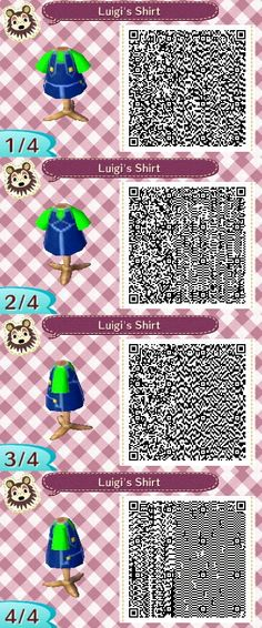 Luigi's Overalls...Though I was too lazy to go back and change the name... -.- xD  #acnl #animalcrossing #newleaf #nintendo #3DS