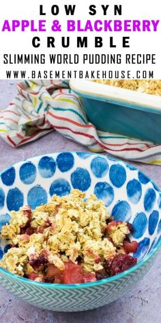 Crumble aux pommes et mûres - Art Design Blackberry Crumble, Fruit Crumble, Blackberry Recipes, Crumble Topping, Slimming World Puddings, Slimming World Cake, Slimming World Desserts, Apple Recipes Slimming World, Slimming World Biscuits