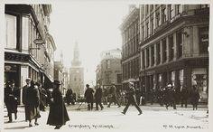 Vibrant old Oslo Street (Grensen) ca 1924