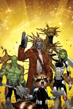 The #GuardiansoftheGalaxy by artist Sara Pichelli.