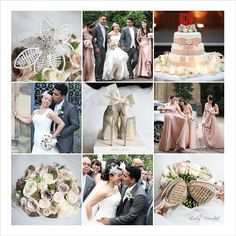 Wedding mood board vintage pinks and nudes...