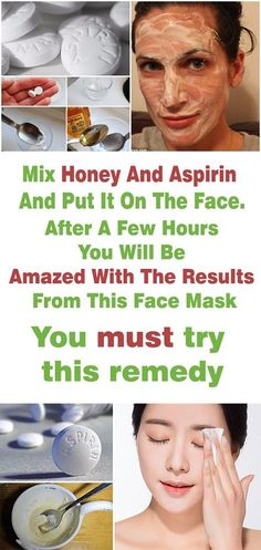 Mix aspirin and honey and put it on your face # colored piece ., # on - Mopget Beauty Care, Beauty Skin, Beauty Hacks, Beauty Tips, Diy Beauty, Homemade Beauty, Beauty Products, Beauty Ideas, Beauty Secrets