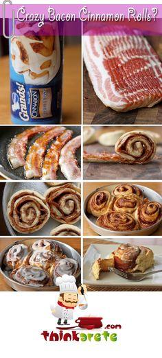 Crazy Bacon Cinnamon Rolls -  Easy and Yummy.. full recipe!!!!