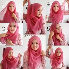 hijab styles step by step,abaya designs,abaya fashion,hijab style to wear a hijab in different styles,hijab styles step by step with pictures Tutorial Hijab Segitiga, Simple Hijab Tutorial, Scarf Tutorial, Modern Hijab Fashion, Hijab Fashion Inspiration, Islamic Fashion, Abaya Fashion, Muslim Fashion, How To Wear Hijab