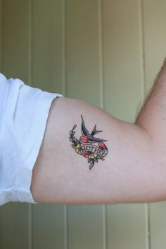 Mother Swallow Traditional Temporary Tattoo by pepperink $5.00