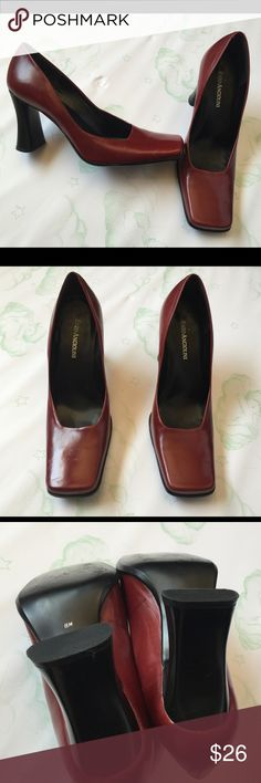Enzo Angiolini square maroon heels Excellent used condition, great for the office. 🚫 No Trades  🚫 No Holds 🚫 No Price Comments 👍🏻 Yes Offers 🚭 Smoke Free Home 📦 Next Day Shipping ❤️ Like for Updates 🕉 Namaste 🙏 Enzo Angiolini Shoes Heels