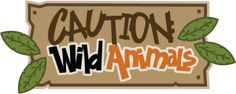 Caution: Wild Animals SVG scrapbook title zoo svg files zoo cut files zoo svg cut files free svgs