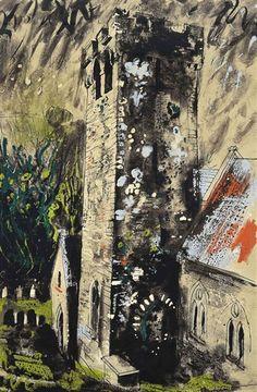 John Piper, Castlemartin, Pembrokeshire, Wales, screenprint, 101 X 69 cm