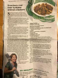 Snack Recipes, Dessert Recipes, Cooking Recipes, Desserts, Yummy Eats, Yummy Food, Cereal Mix, Hawaiian Recipes, Snack Mixes