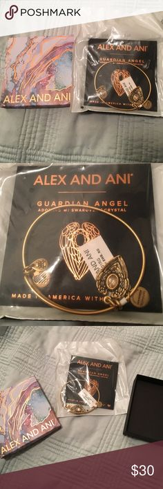 Alex and Ani Guardian Angel Bracelet w/ Swarovski BNWT IN Box in packaging Alex and Ani Guardian Angel Bracelet adorned with Swarovski crystal. This is still in original packing and was never opened. Comes with box. Alex & Ani Jewelry Bracelets