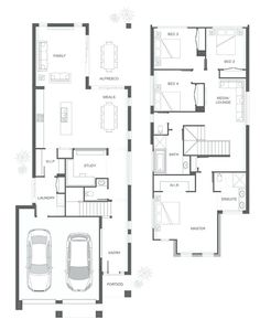 Floor plan maker before after estate floor plan maker floor Duplex Floor Plans, Garage Floor Plans, Home Design Floor Plans, House Floor Plans, Double Storey House Plans, Narrow House Plans, Modern House Plans, The Plan, How To Plan
