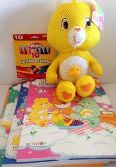 "Gift Set Care Bears Splish Splashers - 12"" Funshine Bear 4- Coloring Activity Books Big Fun to Color Set of 4 with 10 Jumbo Crayons 6pc Bundle Care Bears http://www.amazon.com/dp/B00KRR4994/ref=cm_sw_r_pi_dp_R4s5ub08GDMJF"