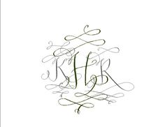 whimsical monogram