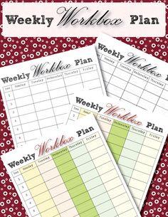 Weekly Workbox Planner – FREE! – Workbox Wednesday