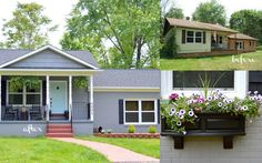 1000 Images About Ugly House Makeovers On Pinterest Exterior Makeover Curb Appeal And Home