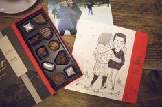 POSSIBLE partnered with luxury Swiss chocolatier and illustrator Alejandro Girlado to create illustrations based on romantic moments shared by couples on social media. #valentinesday #love #romance