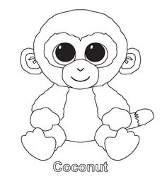 234f06519fd Find more coloring pages online for kids and adults of coconut beanie boo  coloring pages to print.
