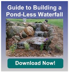Pondless waterfalls are perfect for homeowners who want the sights and sounds of a waterfall without the maintenance of a pond. Waterfall Landscaping, Outdoor Ponds, Building A Pond, Backyard Water Feature, Water Features In The Garden, Small Ponds, Water Garden, Landscape, Easy