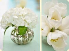 Mini White Hydrangea Flower Arrangement