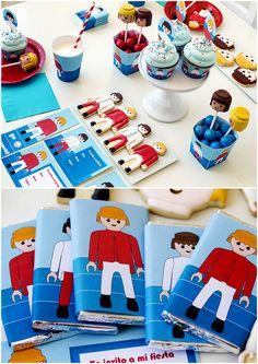 kit imprimible gratis para fiesta #playmobil