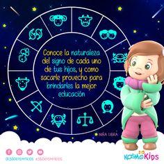 ¿Sabes cuál es la naturaleza de tus hijos? Aprende más con #360KosmoKids #Astrología Educativa Infantil. #Horóscopo #Zodiaco #Educación