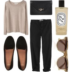 Vanessa Bruno, GG 750, Givenchy, Topshop slippers, Illesteva sunglasses, and Diptyque