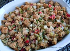Gourmet Girl Cooks: Herbed Grain Free Stuffing - Wheat Free & Grain Free