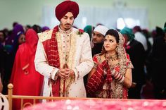 Awww! And she sneaks in a look! Love the way she's smiling at him :) --- #indian #wedding #candid