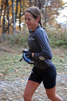 "Jenn Shelton.  ""That's what I love - just being a barbarian and running through the woods"""